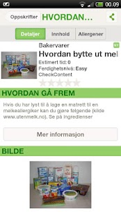 Sjekk matvaren for allergier- screenshot thumbnail