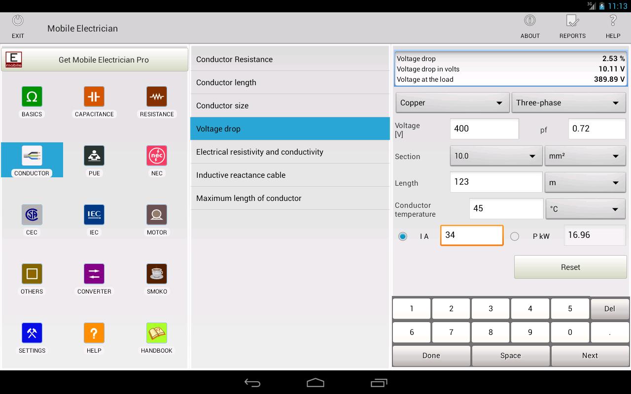 Mobile electrician - screenshot