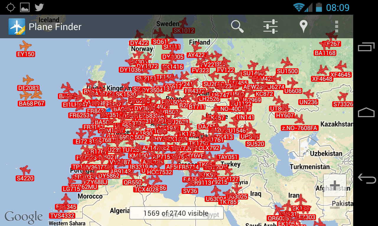 Plane Finder Free - screenshot