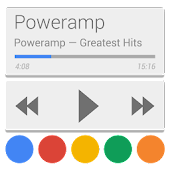 Skin for Poweramp Now/Card UI