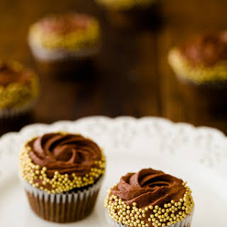 Chocolate Rum Cupcakes with Chocolate Mousse Frosting.