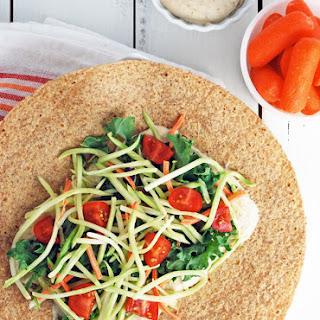 White Bean Hummus and Veggie Wrap