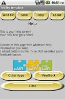 Screenshot of Mailto Starter Template