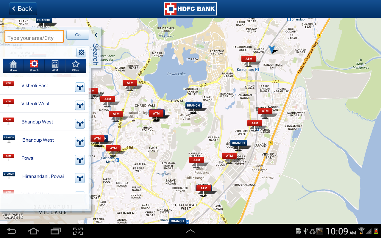 HDFC Bank Tablet- screenshot