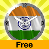 India flag Analog Clock