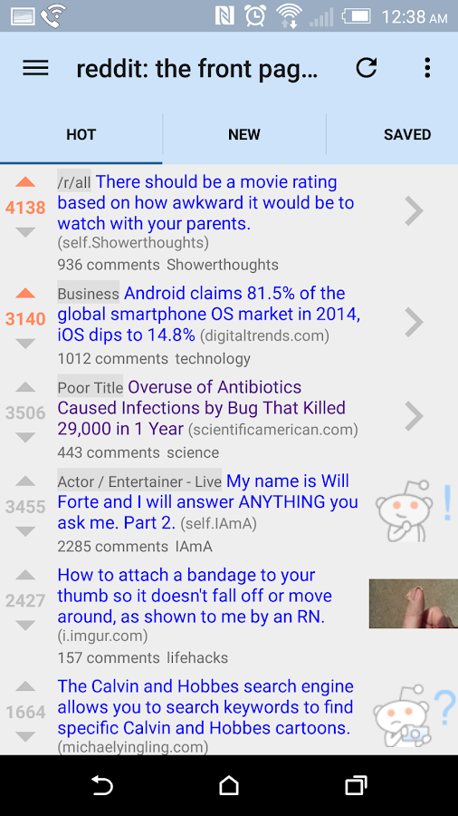 reddit is fun (unofficial)- screenshot