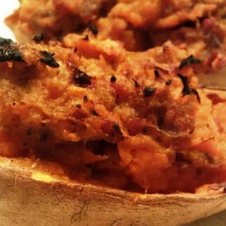 Paleo Curried Twice Baked Sweet Potatoes