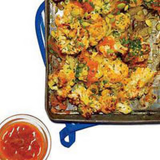 Cauliflower with Spicy Carrot-Pineapple Sauce.