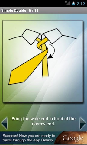 Screenshots for How to Tie a Tie