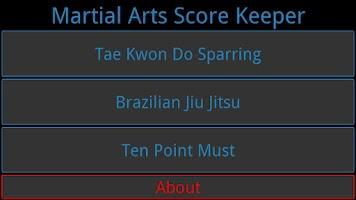 Screenshot of Martial Arts Score Keeper