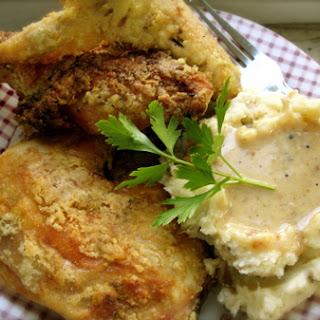 Amish Oven Fried Chicken & Tomato Salad Recipe