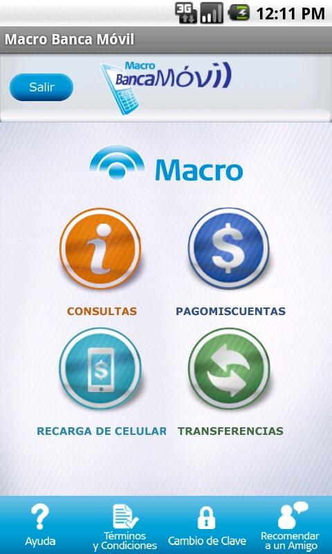 Macro Banca Móvil - screenshot