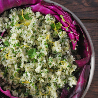 "Marinated Artichoke & Cauliflower ""cous Cous"" Salad"