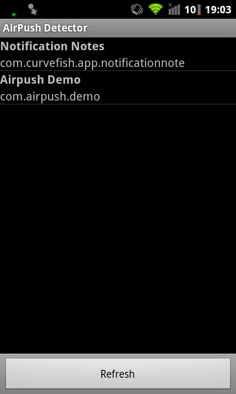 AirPush Detector: captura de pantalla