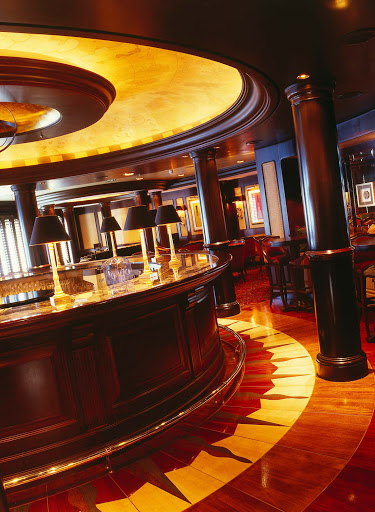 Enjoy a classy night on the ship visiting the Avenue Saloon on Crystal Serenity.