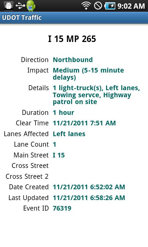 UDOT Traffic- screenshot