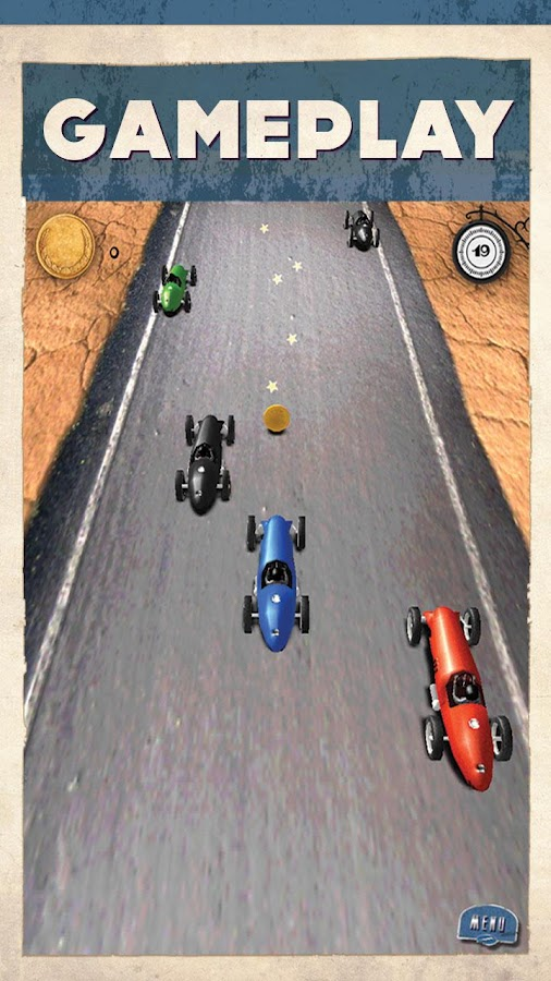 3D Car Racing RETRO - FREE - screenshot