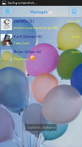 Balloons Theme Go SMS