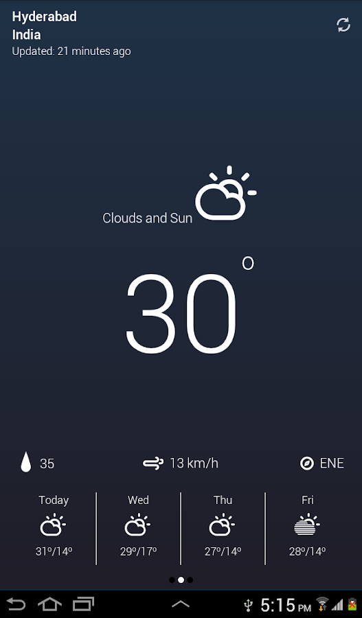 Weather Neue- screenshot