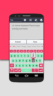 How to install AquaPink Keyboard LG THEME 2 0 13 unlimited apk for