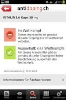 Screenshot of Antidoping Switzerland