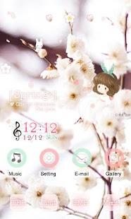 CUKI Themes CherryBlossom Girl