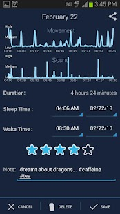 SleepBot - Sleep Cycle Alarm Screenshot