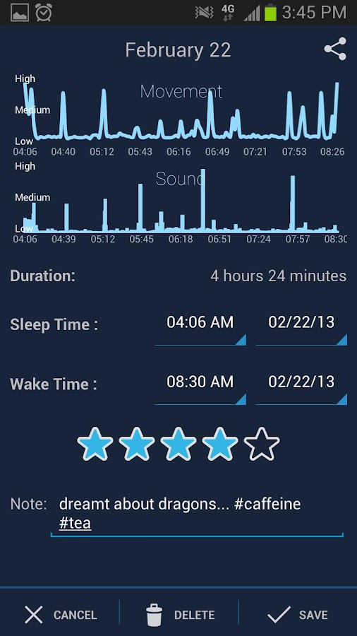 SleepBot - Sleep Cycle Alarm - screenshot