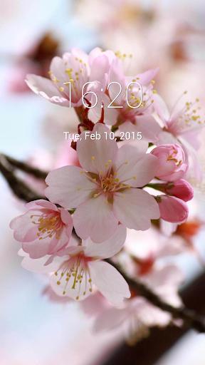 Nature Blossom Lock Screen