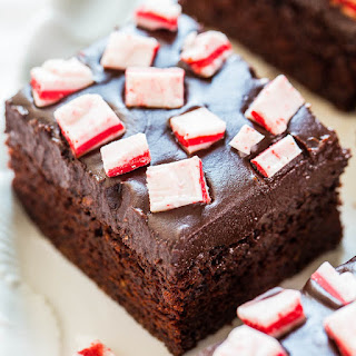 The Best Peppermint Chocolate Cake