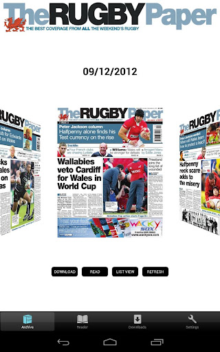 The Rugby Paper Welsh Edition