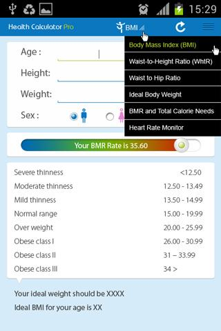 Health Calculator Pro- screenshot