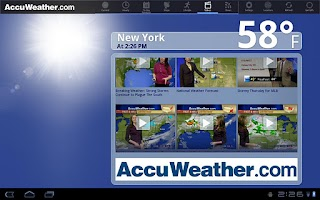 Screenshot of AccuWeather for Sony Tablet S