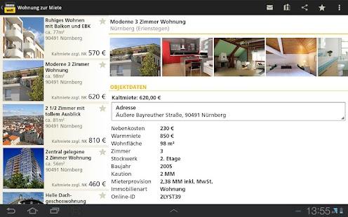 Immobilien, Wohnungen & Häuser - screenshot thumbnail