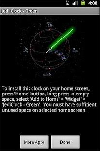 JediClock - Green- screenshot thumbnail