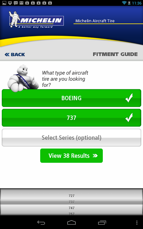 Michelin Aircraft Tire - screenshot