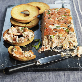 Poached & Smoked Salmon Pâté With Bagel Toasts
