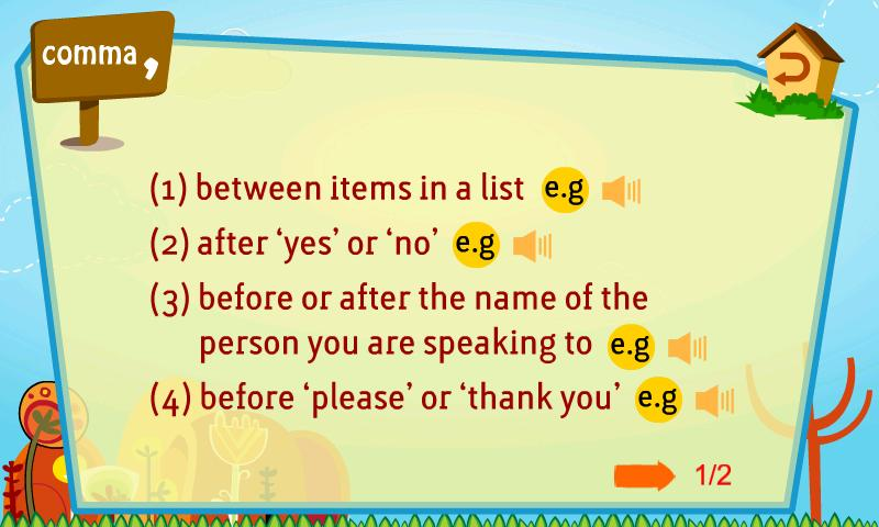 Kids Grammar Punctuation - screenshot
