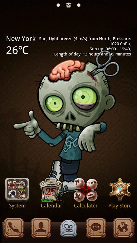 zombie go launcher theme android apps on google play