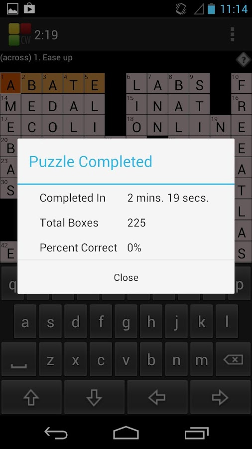Crossword Puzzle - screenshot