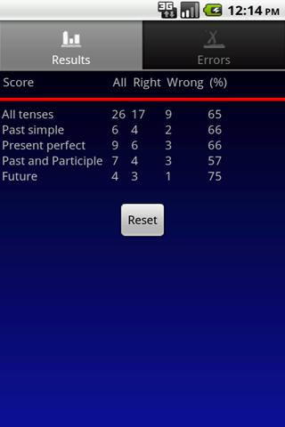 Verbuga English Verb Trainer - screenshot