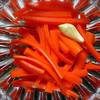 Pickled Carrot Sticks.