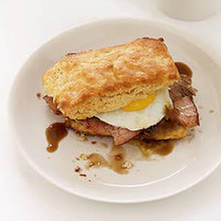 Ham Biscuits with Redeye Cream Gravy.