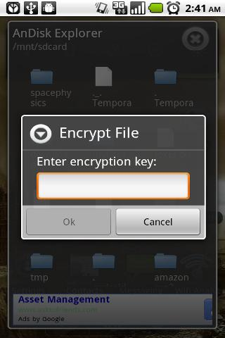 AnDisk Encryption - screenshot