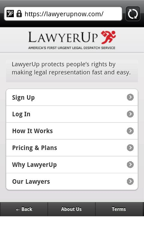 LawyerUp- screenshot