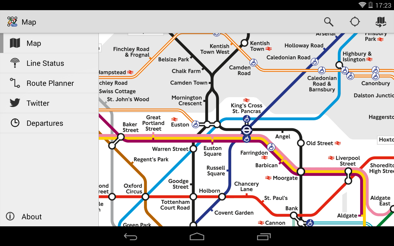 Tube Map Pro Live Underground - screenshot