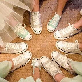Fresh kicks by Jess Anderson - Wedding Details ( shoes, bridesmaids, wedding, converse, bride )