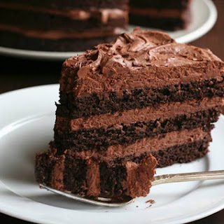 Chocolate Layer Cake with Whipped Chocolate Ganache Frosting