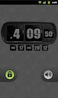 Screenshot of 3D Animated Flip Clock BLACK