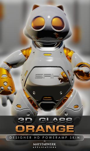 poweramp skin orange 3d